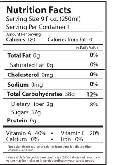 mangoneada nutrition facts